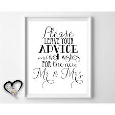 advice to the and groom cards wedding advice sign leave advice and well wishes for the