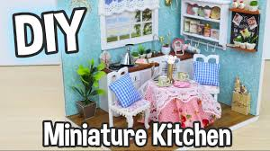 diy miniature dollhouse kit cute kitchen room with working lights diy miniature dollhouse kit cute kitchen room with working lights relaxing craft youtube