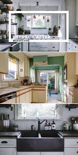 before and after a modern rustic kitchen makeover home tree atlas