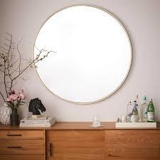 Metal Framed Bathroom Mirrors by Metal Framed Oversized Round Mirror Round Mirrors Antique Brass