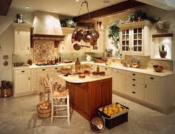 luxurious country decor for kitchen and in home designing