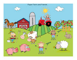 create a farm scene with standup farm animals and people diy