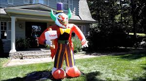 morbid airblown halloween inflatable free candy clown 8 ft