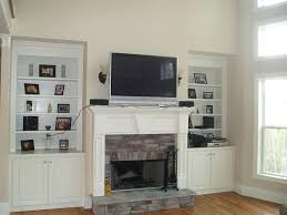 mount install tv above stone fireplace brick install tv above