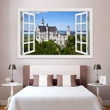 aliexpress com buy removable decals 3d window view european