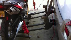 Tire Rack Motorcycle Motorcycle Rv Carrier Lift Youtube