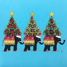 christmas elephants n1778 pack of 5 u2013 jaab cards