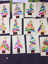 kindergarten do this as a center christmas tree paper strips