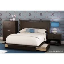 south shore step one full queen platform bed with 2 drawers in south shore step one full queen platform bed with 2 drawers in chocolate walmart com