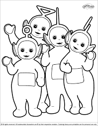teletubbies coloring pages pictures toddlers love print