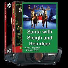 Holographic Christmas Window Decorations by Virtual Santa Holiday U0026 Seasonal Ebay
