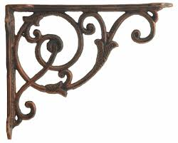 iron floral vine shelf bracket bronze brace 8 5 shelves