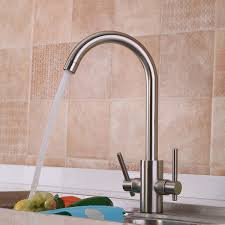 bathroom kitchen sink lever mixer tap pull out swivel spray spout