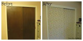 Fabric Closet Doors Door Makeover