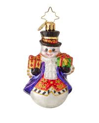 christopher radko adam gem snowman ornament the