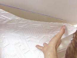 How To Put Up Tin Ceiling Tiles by How To Apply An Embossed Wallpaper Ceiling Treatment How Tos Diy
