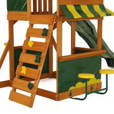 swing set kids outdoor activity center fun playhouse backyard