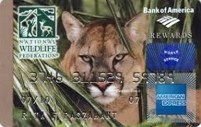 bank card american express national wildlife federation bank