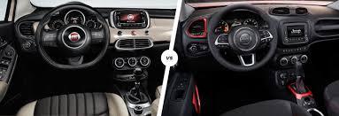 jeep renegade dashboard fiat 500x vs jeep renegade mini suv showdown carwow