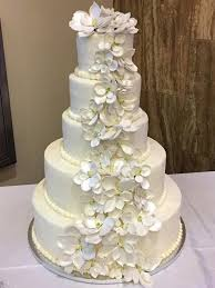 wedding cake near me wedding cakes bakery white on white with roses wedding cakes