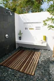 outside bathroom ideas rustic outdoor bathroom glass shelves on the wall rectangular