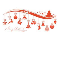 merry christmas tree stylized line art royalty free vector