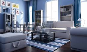 blue black and white living room red and green blue and orange