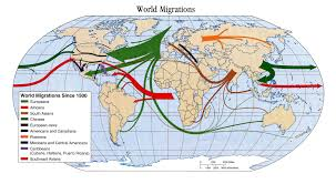 European World Map by Major Patterns Of Human Migration Since 1500 World Maps Pinterest
