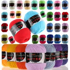 wholesale popular colors cotton thread yarn knitting crochet lace