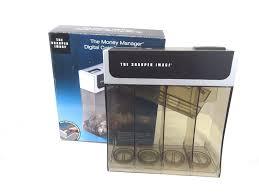 the sharper image digital coin counter sorter piggy bank money