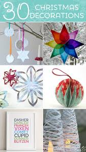 Homemade Christmas Decorations With Paper 30 Beautiful Diy Homemade Christmas Ornaments To Make