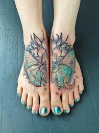 125 gorgeous girly foot tattoos and designs