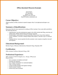 Job Resume Sample No Experience by Sample Resume For Office Assistant With No Experience Resume For