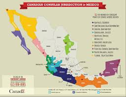 Oaxaca Mexico Map Canadian Consular Services In Mexico