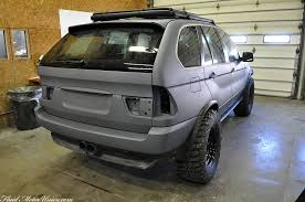 2002 bmw x5 custom wrecked bmw x5 turned into a post apocalyptic spitting beast