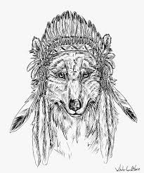 drawn wolf indian wolf pencil and in color drawn wolf indian wolf