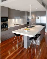 kitchen modern ideas we prefer the idea of a single pole supporting the end instead of