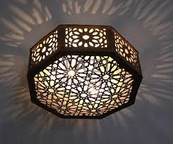 moroccan ceiling light fixtures flush mount lights tazi designs
