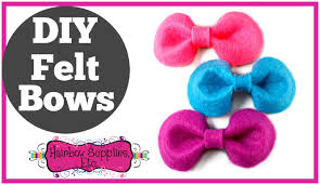 bow supplies diy felt bows felt bow tutorial hairbow supplies etc