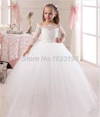 communion gowns wholesale 2016 hot the shoulder lace top tulle flower girl