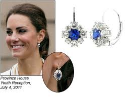 kate middleton diamond earrings kate middleton sapphire and diamond earrings beautiful