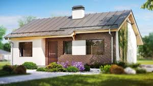 gable roof house plans simple and inexpensive one storey house with gable roof 745 sq