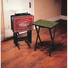 Folding Tray Table Set Axton Drop Leaf Table With Tv Tray Table Set U0026 Reviews Joss U0026 Main