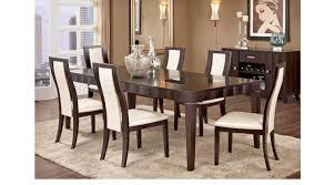 espresso dining room sets mondavi espresso dark brown 7 pc dining room with pearl off