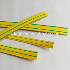 yellow green striped color grounding wire retardant heat