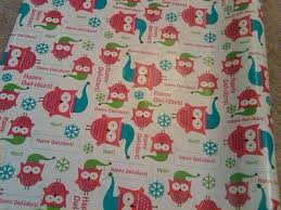 owl christmas wrapping paper hoots up wrapping paper