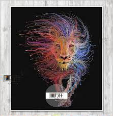2017 hd printed animal male lion wall art painting canvas print