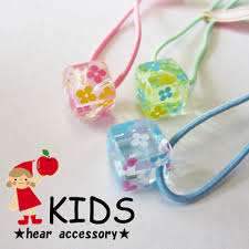 hair bobbles melodyacc rakuten global market transparent cube flower hair