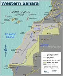Map Of Western Africa by Large Detailed Road Map Of Western Sahara With All Cities And