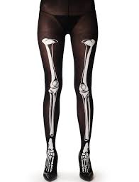 halloween skeleton bone tights goth pantyhose prettyguide